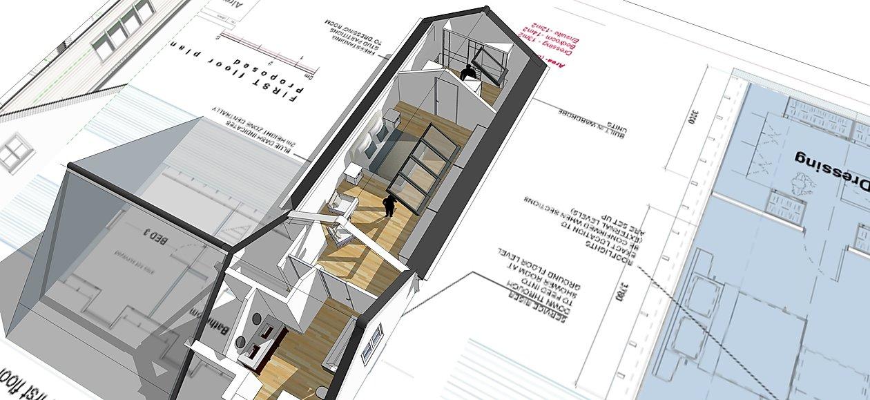 Garage conversion, roof conversion
