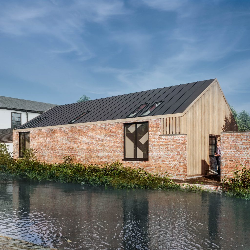 Artist studio new build canalised